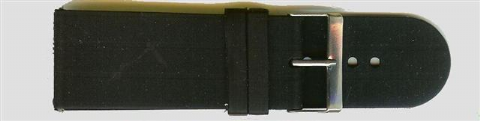 Black Rubber Watch Strap 30mm